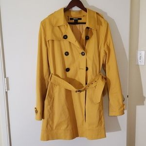 Gorgeous DKNY Yellow Trench Coat